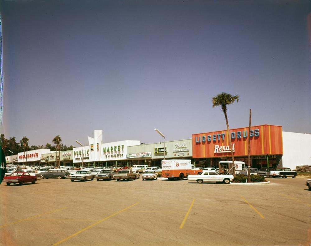 Publix shopping plaza in Ocala, 1965. Publix, Publix