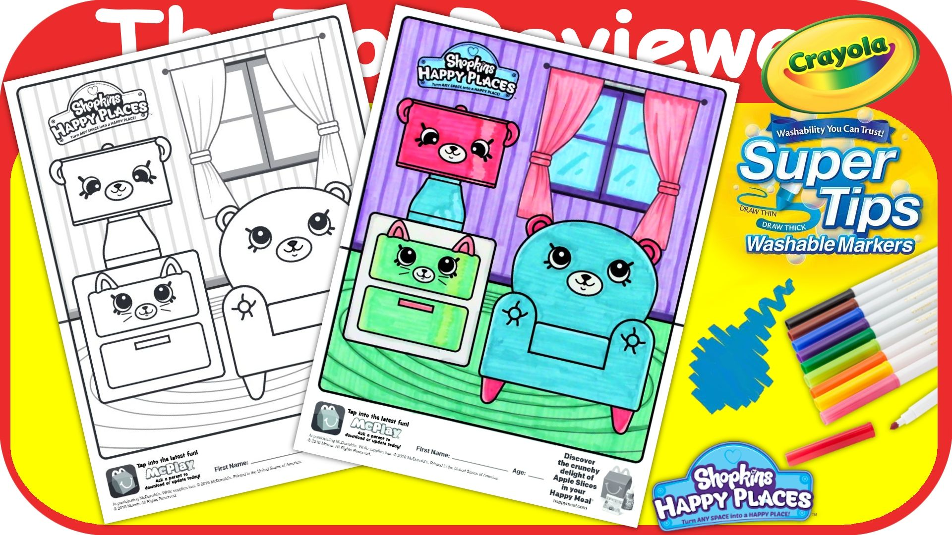 Check out this McDonald\'s Happy Meal Shopkins Happy Places Coloring ...