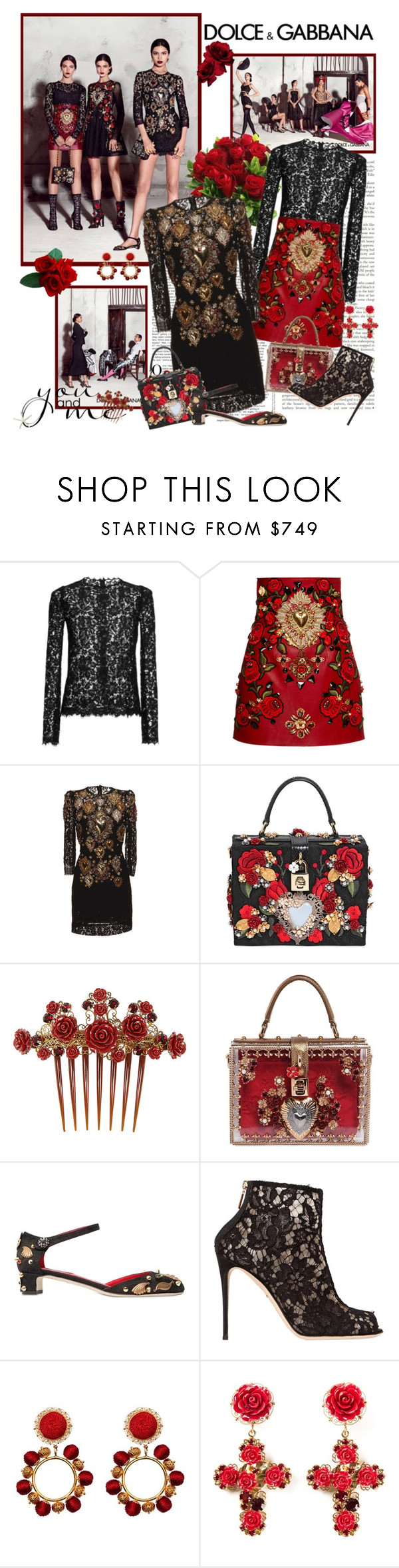 """Dolce & Gabbana SS 2015"" by mrekulli ❤ liked on Polyvore featuring Dolce&Gabbana"