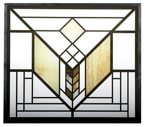 FRANK-LLOYD-WRIGHT-LAKE-GENEVA-HOTEL-TULIP-STAINED-ART-GLASS-PANEL-DISPLAY