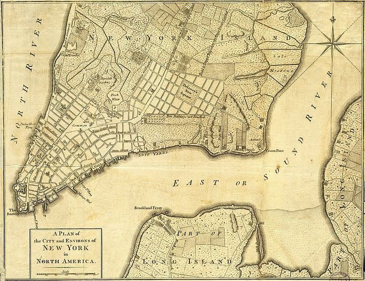Map Of New York 1776.A British Map Of New York City 1776 United States New York