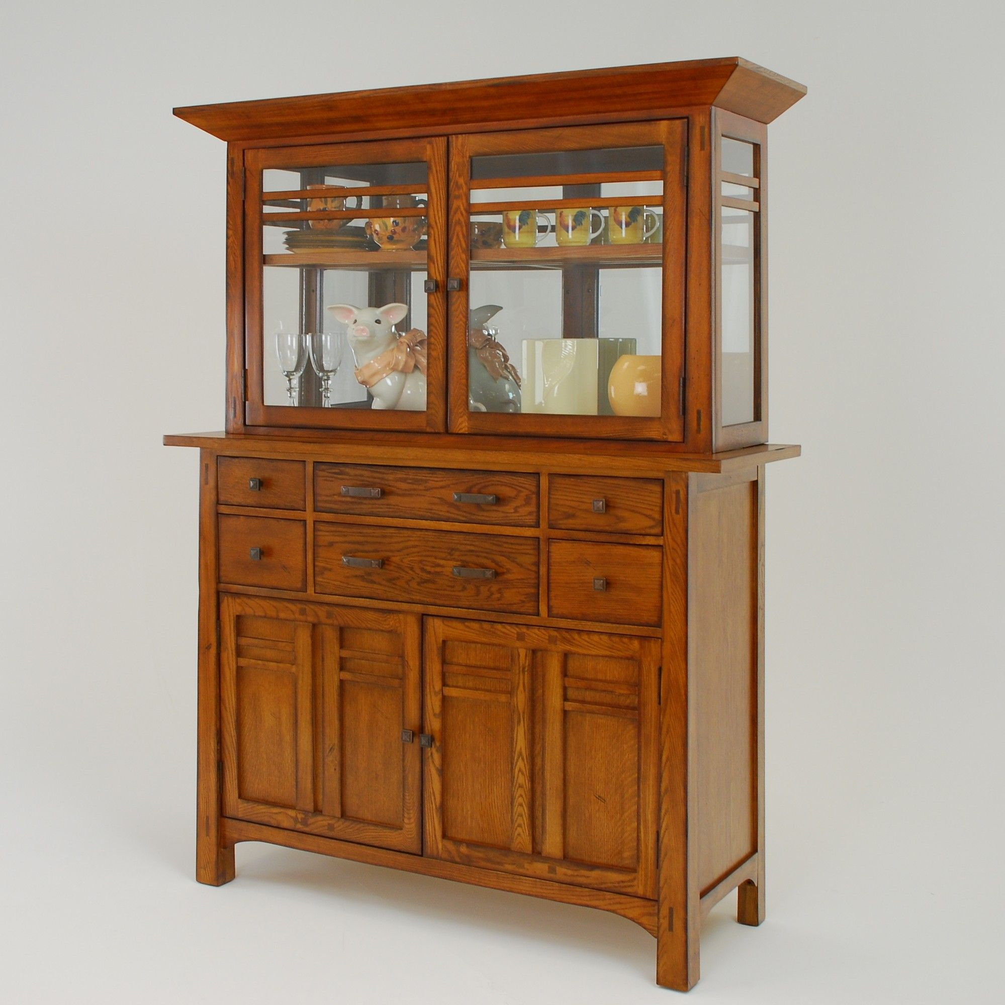 Gs Furniture Arts And Crafts Bungalow China Cabinet 1 290 97 China Cabinet Arts And Crafts Furniture Cabinet