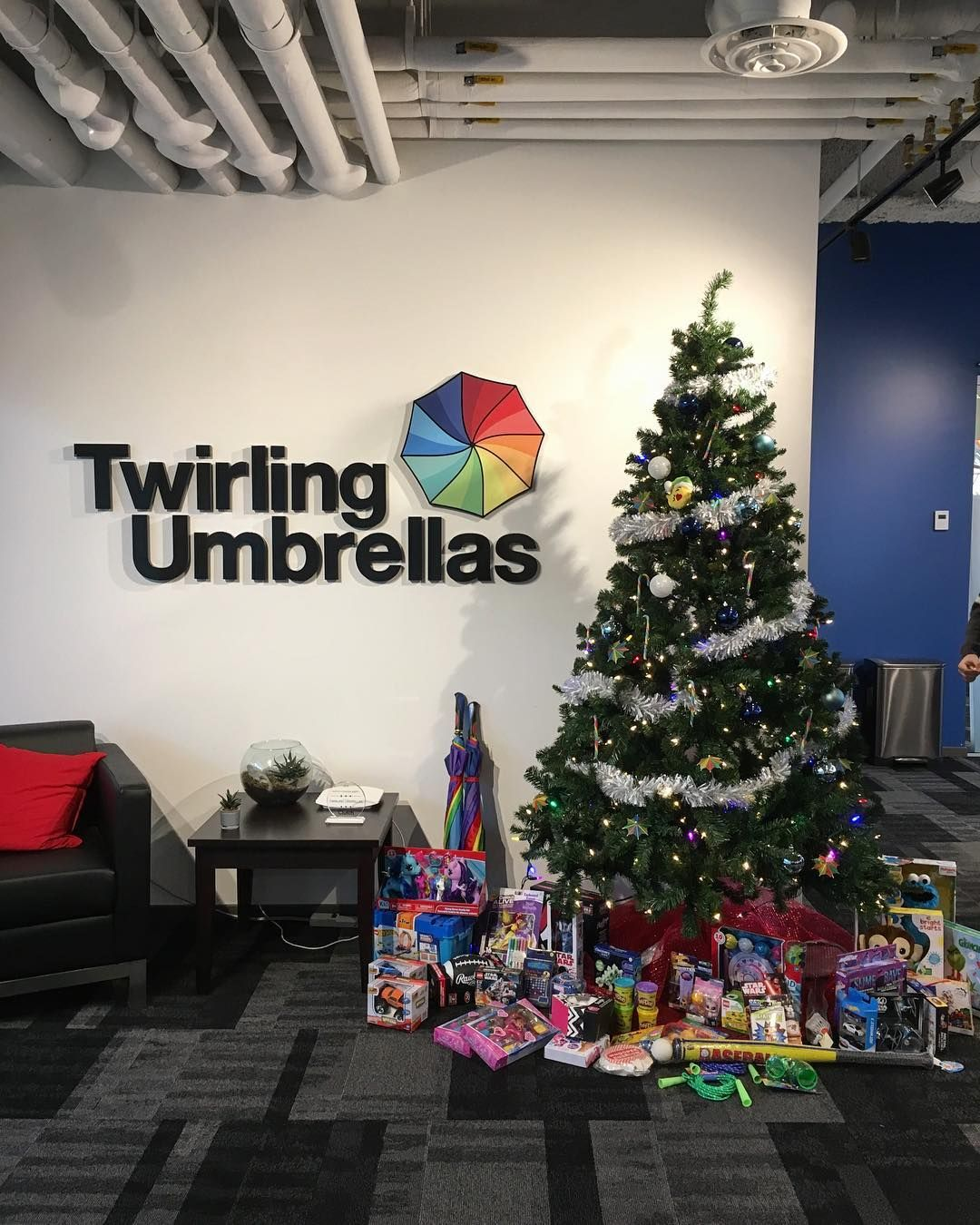 Isn't our tree looking fantastic?! We're part of such a wonderful community. Don't forget to drop off your unwrapped toy by the end of the day tomorrow to make the holidays brighter for a kid in need. #toydrive #salvationarmykelowna #innovationcentre