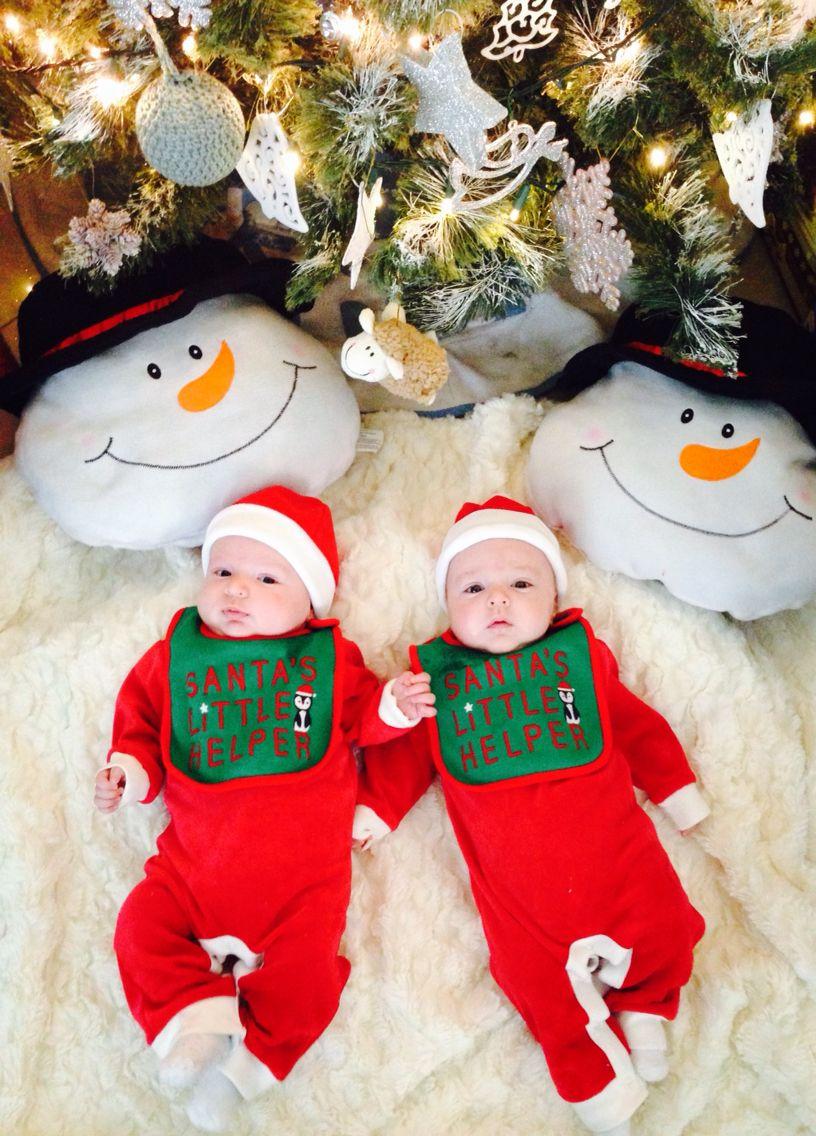 Twins first christmas! 2014 twins christmas Baby