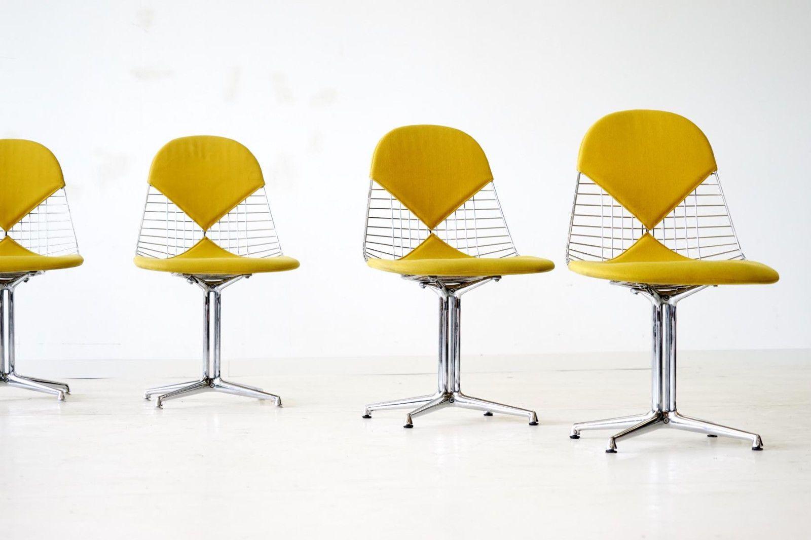 4x Eames Wire Side Bikini Chair Bikini Herman Miller La Fonda Base Stuhl  Stühle