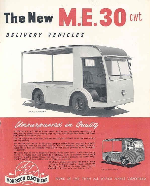 1953 Morrison Austin Me30 Electric Milk Truck Brochure Wj5955