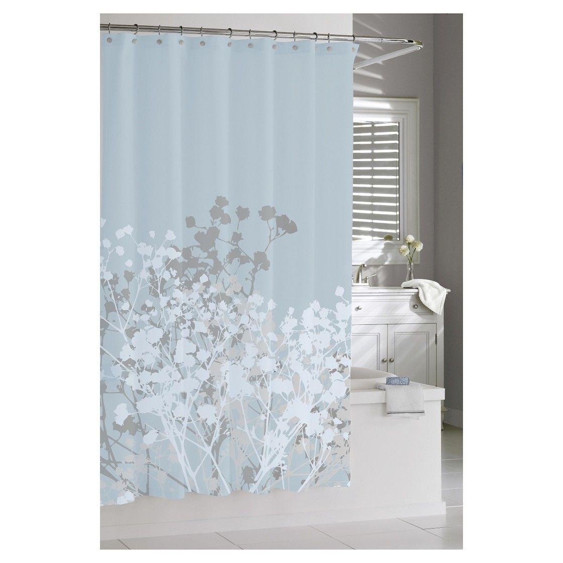Kassatex Willow Shower Curtain Spa Blue Blue Shower Curtains