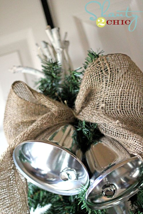 Pottery Barn Inspired Silver Bells Swag Pottery barn inspired