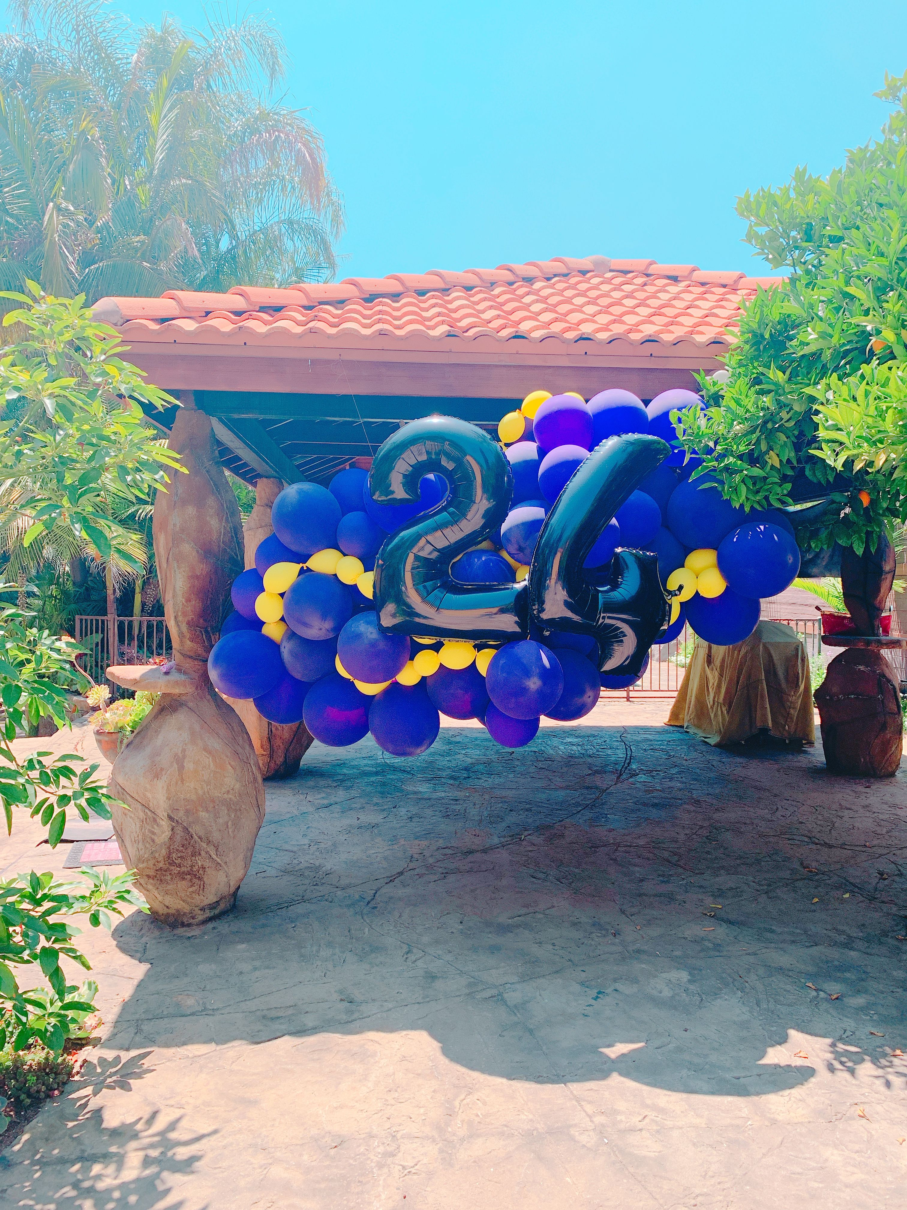 BalloonWorks Kobe theme birthday 24th birthday, Balloon