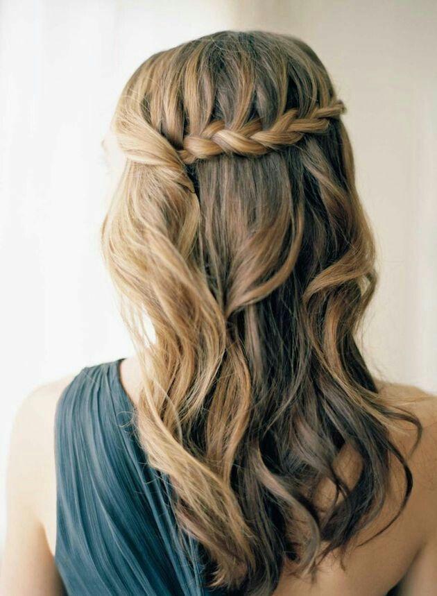 Semirecogido Trenza Peinados Pinterest Peinados - Peinado-semirecogido-con-trenza