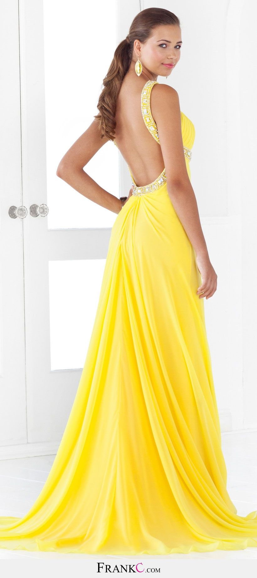 sexy prom dressyellow prom dress PROM DRESSES Pinterest