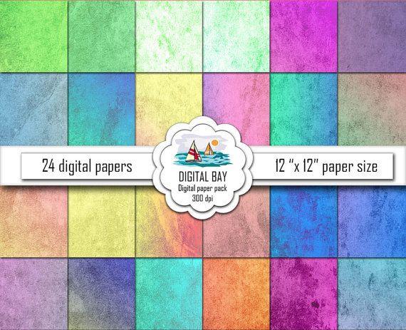 GRUNGE MULTICOLOR  Digital papers  Instant download  by DigitalBay