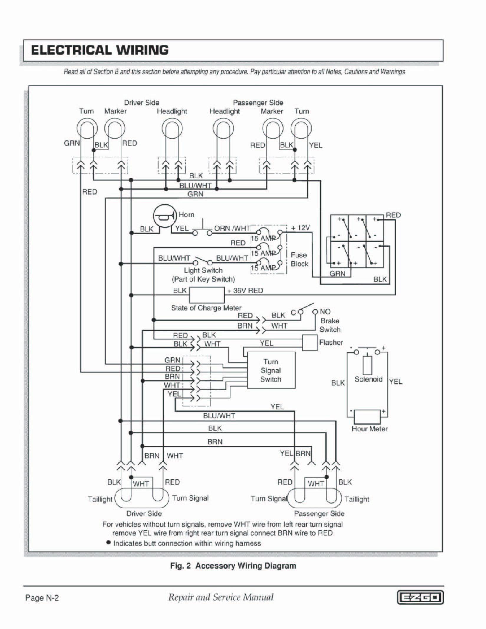 Unique Ezgo Txt Series Wiring Diagram  Diagram