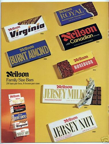 Neilson Ad 2 Retro Chocolate Bars Vintage Candy