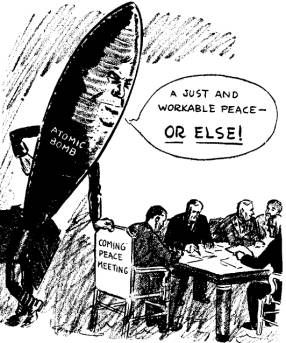 001 From Hot War to Cold War This cartoon of August 11, 1945