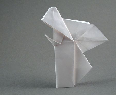 Origami Angel Praying By Niwa Taiko Folded By Gilad Aharoni