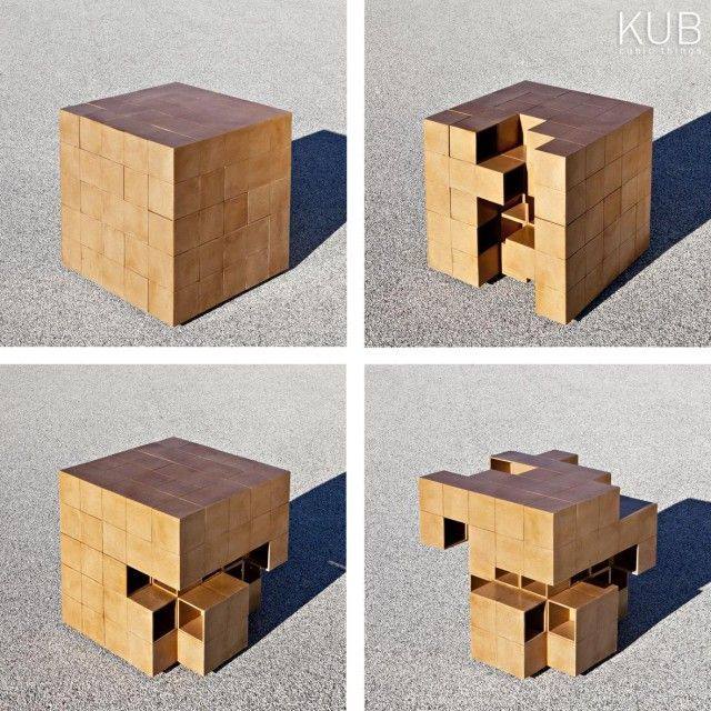 Rubik's Cube-Like Furniture : Puzzle Table