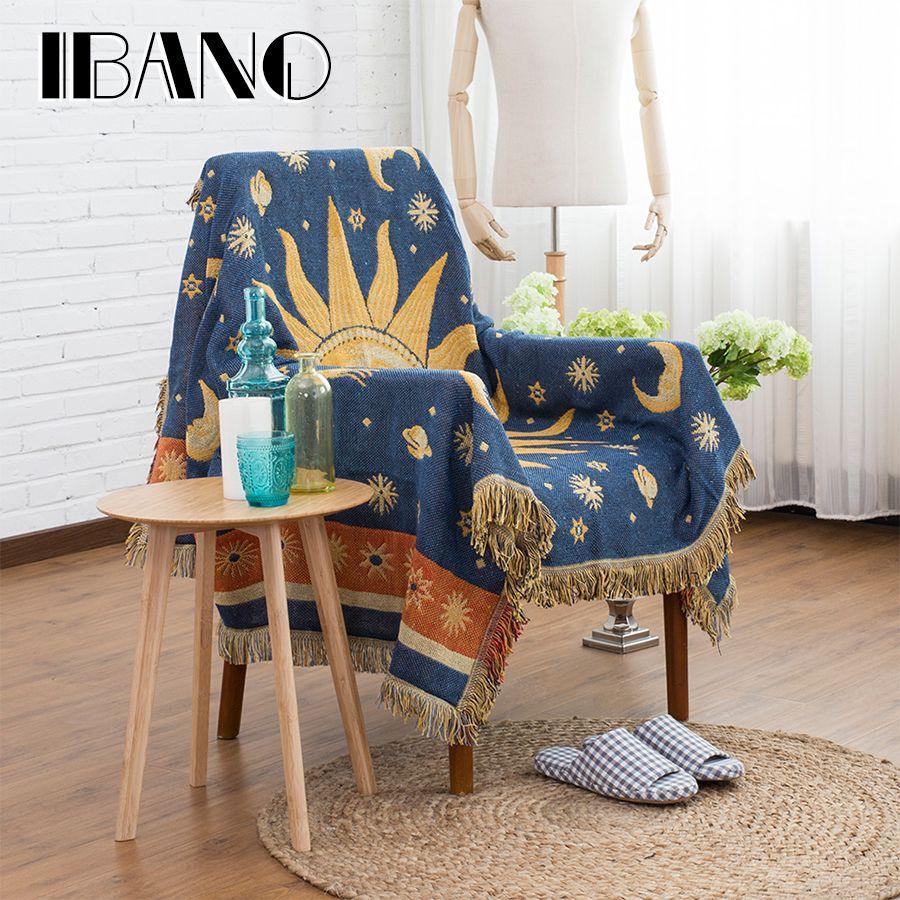 IBNO Thread Blanket 130x180cm Cobertor Cotton Throw Blanket Home Decorative  For Sofa Cover Beed Sheet Floor
