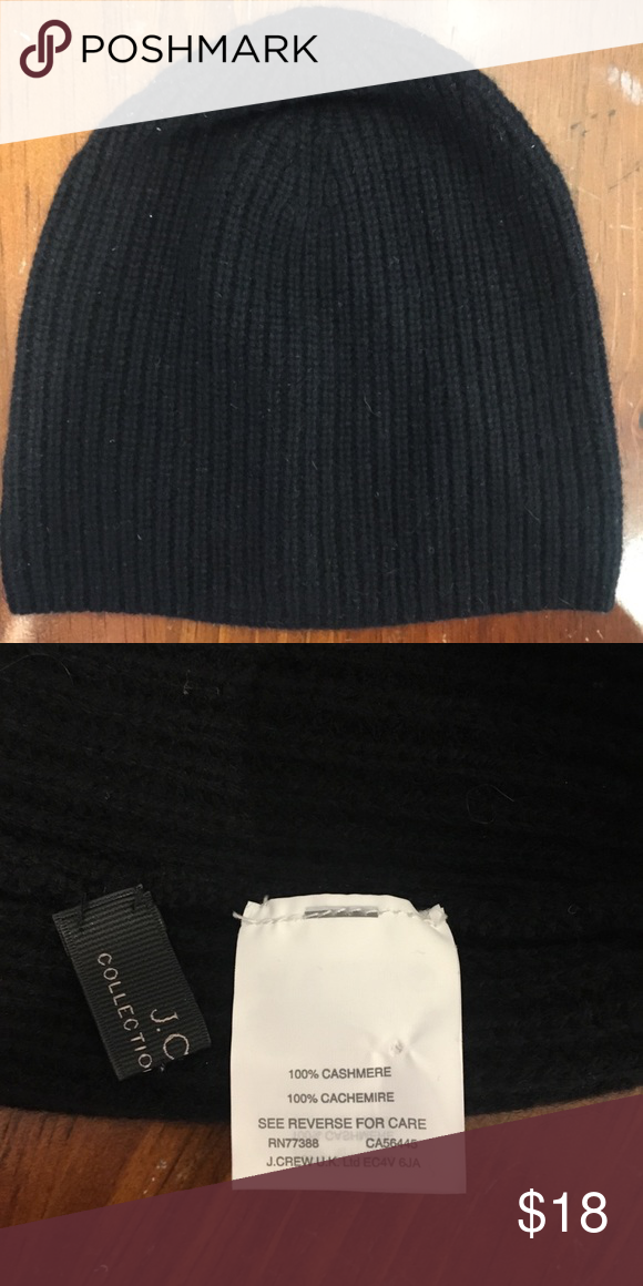 575f12d6a J.crew Italian Cashmere hat Soft black cashmere beanie hat by J.Crew ...
