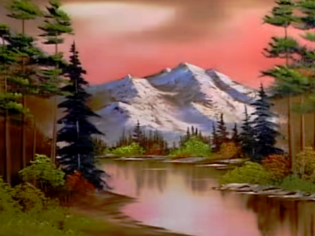 Aoe Twoinchbrush Bob Ross Database List Of All Bob Ross Paintings Bob Ross Art Bob Ross Paintings Fantasy Art Landscapes