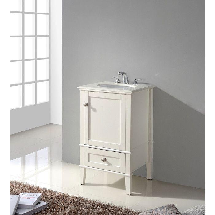 Beachcrest Home Hendry 21 Single Bathroom Vanity Set 19 Inches Deep 299 Bath Vanities Single Sink Bathroom Vanity Single Bathroom Vanity