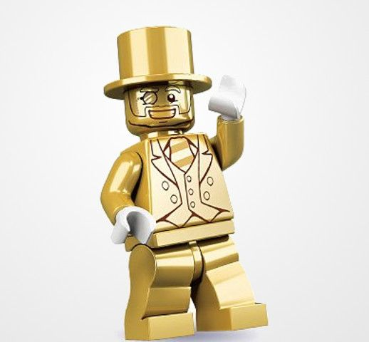 Rare Limited Edition Mr. Gold LEGO Minifigure | Toys | Pinterest ...