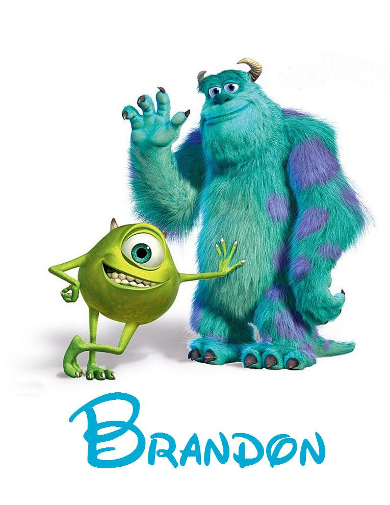 Disney Shirt Personalized Monsters Inc Custom Iron On Transfer Decal Iron On Transfer Not Digital Download By Disney Monsters Mike And Sulley Mike And Sully