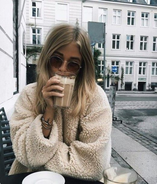 ac86eb38d6 Coat  fuzzy warm sweater fall sweater fur tan beige top beige fluffy ...
