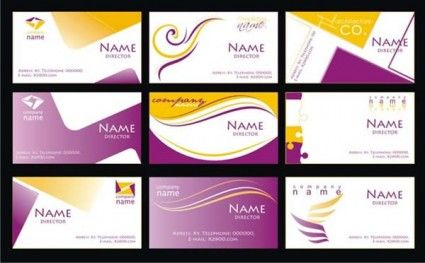 Purple business card template vector proyectos que intentar purple business card template vector reheart Images
