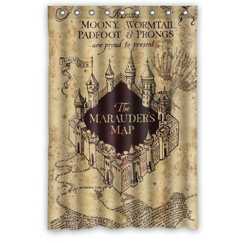 Home Fashion Marauder S Map Harry Potter Shower Curtain 4 Http
