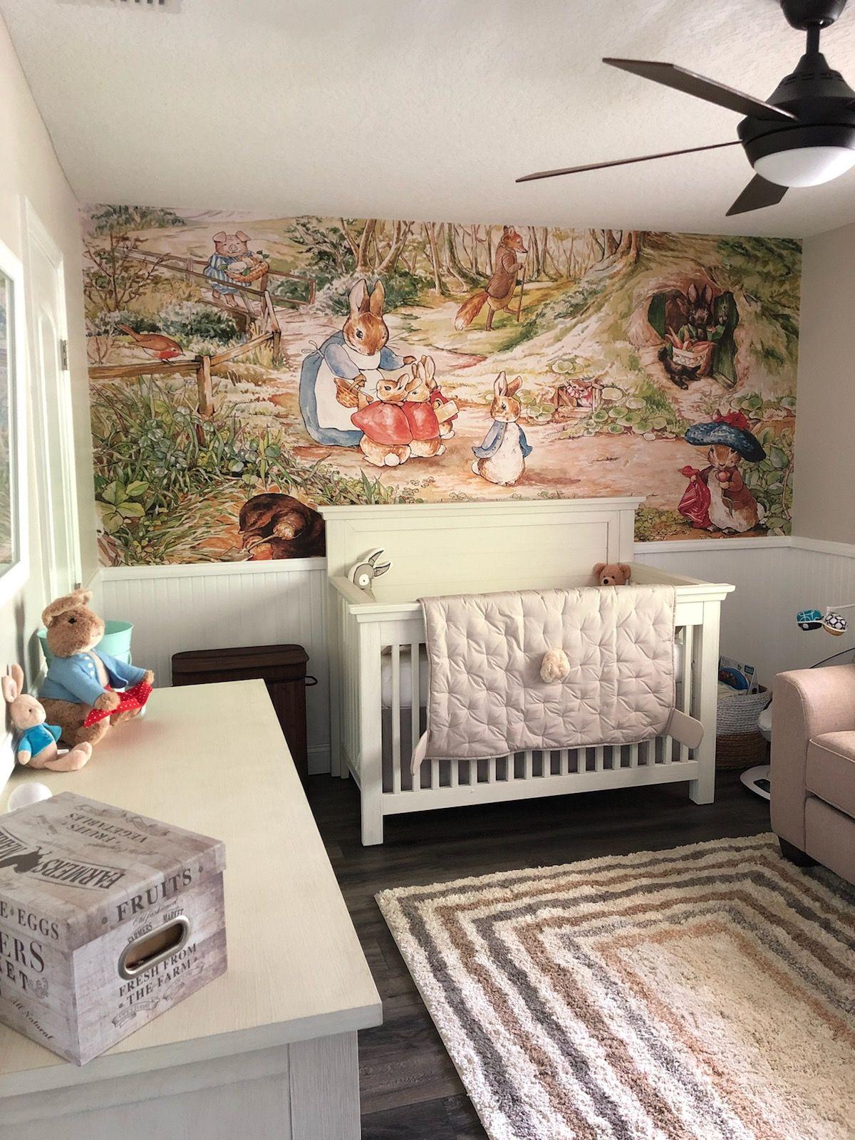 How Sweet Is This Peter Rabbit Nursery Baby Nursery Wallpaper