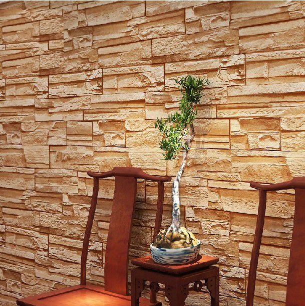 Pvc 3d moderno tijolo do vintage textura wallpaper parede - Papel pared moderno ...