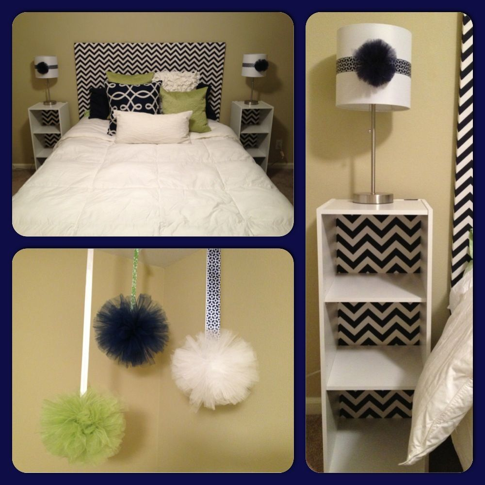 DIY guest bedroom. Faux headboard made from plywood