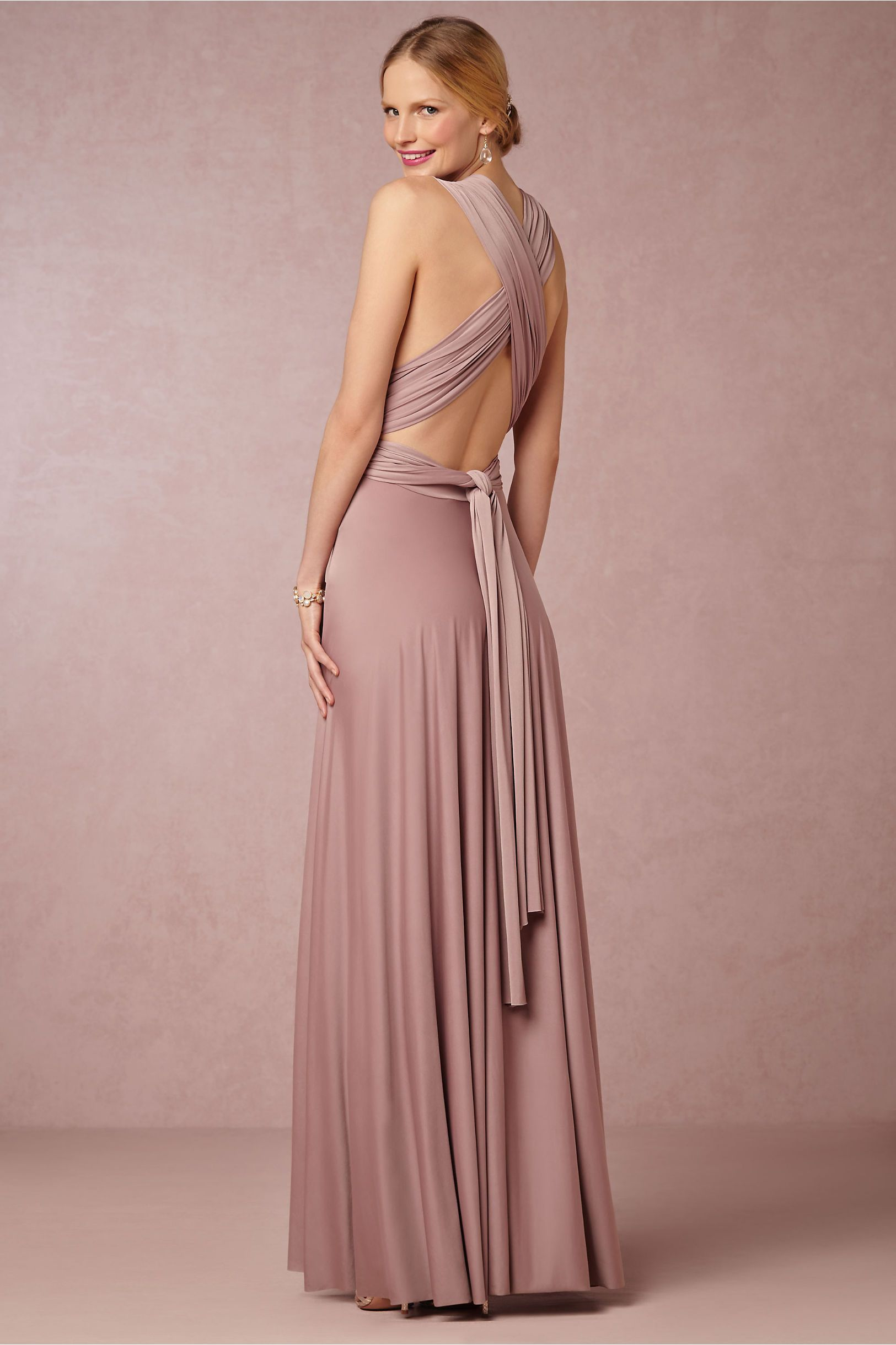 BHLDN SS 2015 Ginger Convertible Maxi Dress $310.00 Color: Heather ...