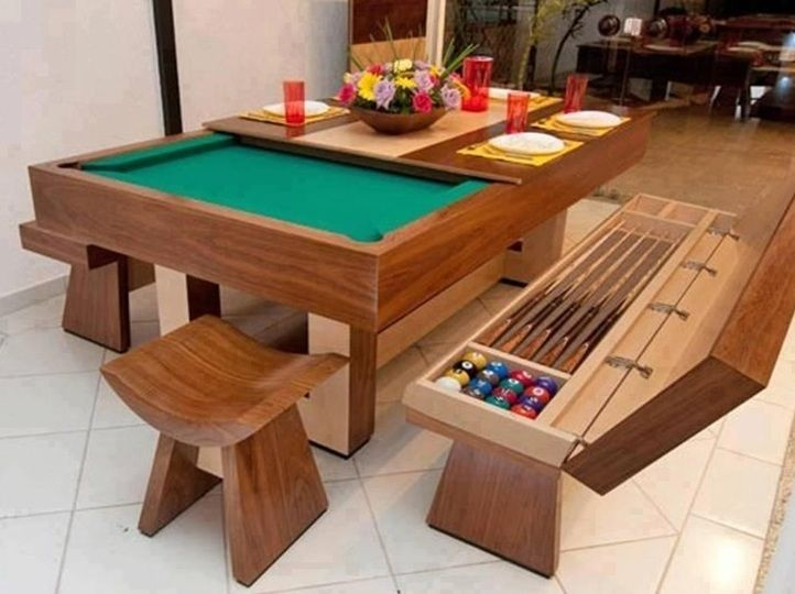 Room Moderna Pool Table Convertible Dining