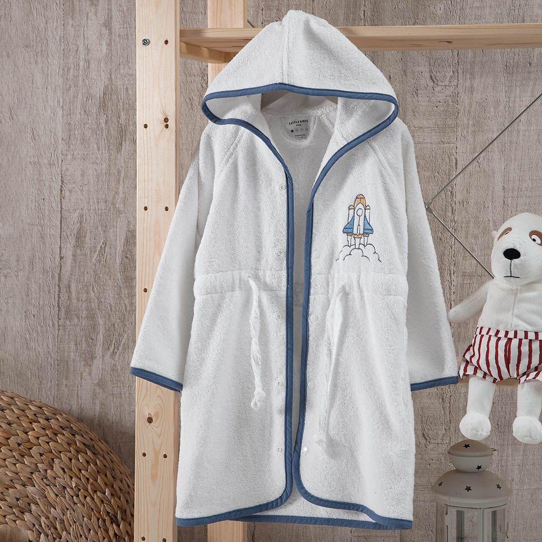 روب استحمام أطفال باللون الأبيض و الأزرق Jackets Nike Jacket Athletic Jacket