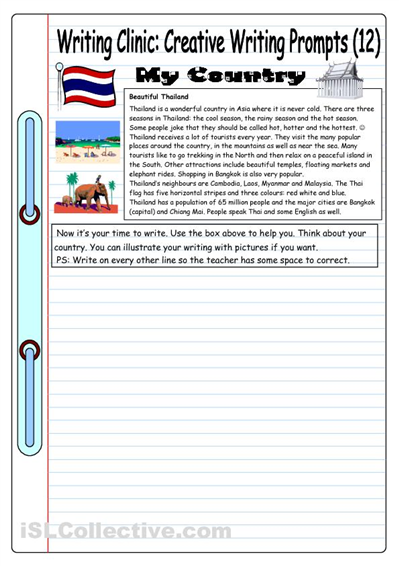 Writing Clinic Creative Prompt 12 My Country Classes Essay