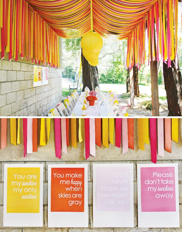 You are my sunshine b-day party... this song reminds me so much of my mom and I can't wait to sing it to a child of my own... what a great bday party theme!!!