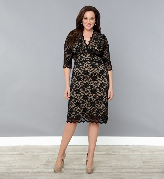 Black dress with sleeves plus size