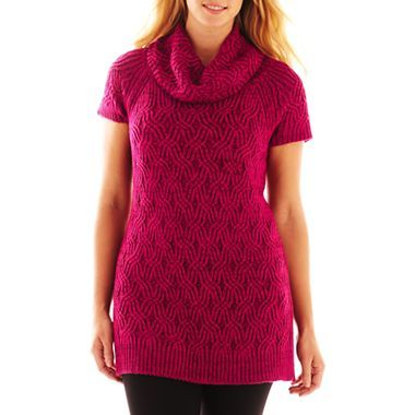 Worthington® Textured Cowlneck Tunic Sweater - Plus - jcpenney