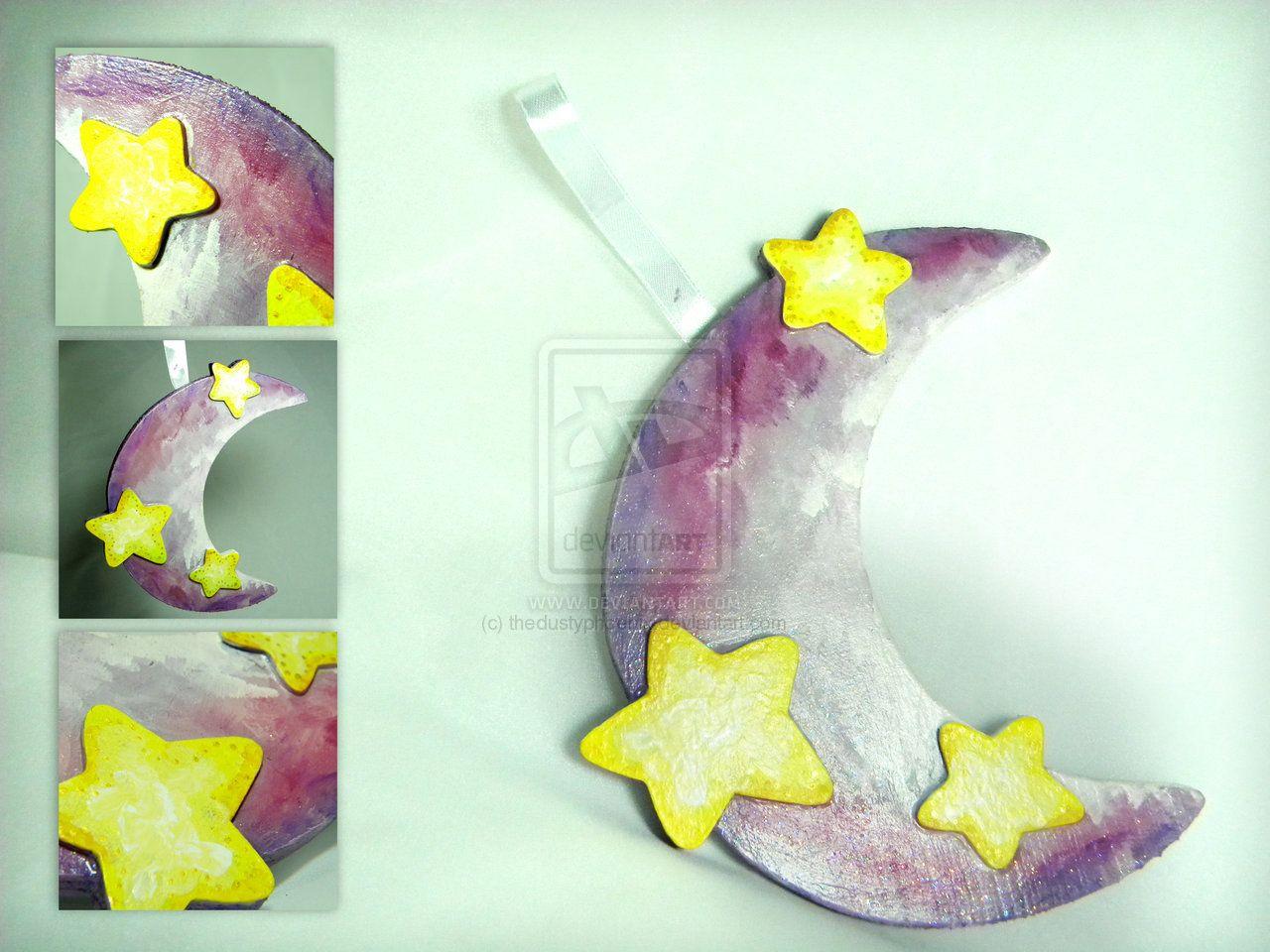 Purple Moon Plaque by ~thedustyphoenix on deviantART