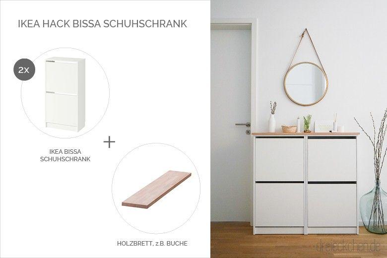 Ikea Hack Mit Dem Bissa Schuhschrank Einfaches Diy Blog Dreieckchen In 2020 Schuhschrank Ikea Schuhschrank Ikea