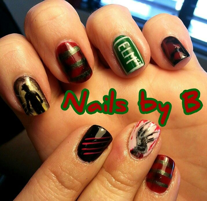 Freddy Krueger Nails - Nightmare on Elm St - Nails by B Eugene ...