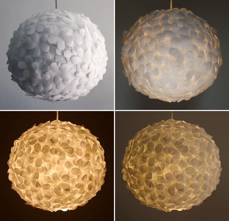 White Paper Flower Petal Light - Hanging Pendant L& - Shade Only & White Paper Flower Petal Light - Hanging Pendant Lamp - Shade Only ... azcodes.com