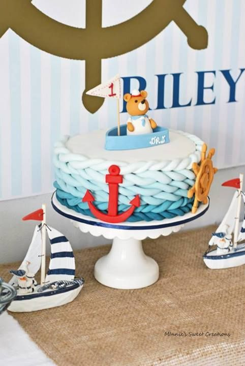 Nautical 1st Birthday Pirate Theme Birthdays And Cake