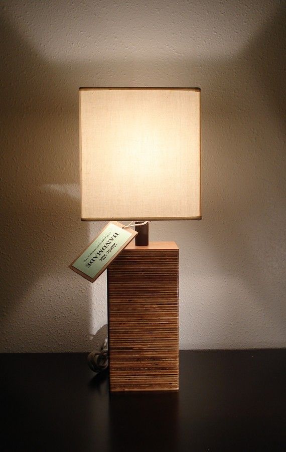 Etsy Finds 5 Modern Square Wood Table Lamp Table Lamp Wood