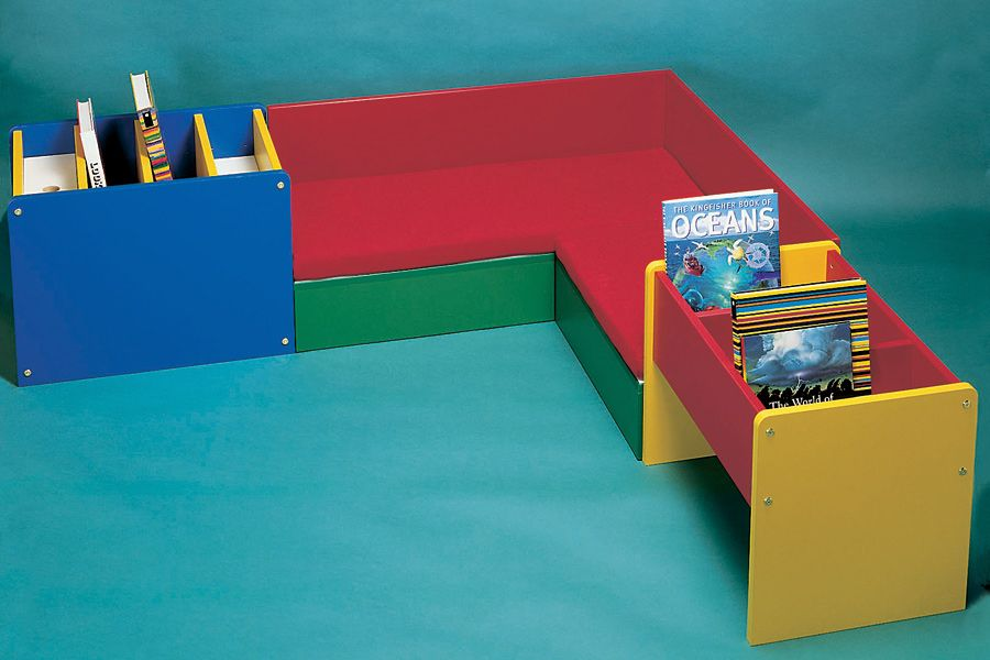 Corner Seating Unit For Small Children To Sit And Read This Corner Seating Unit Is Ideal For School Libraries A Book Corners Library Furniture School Library