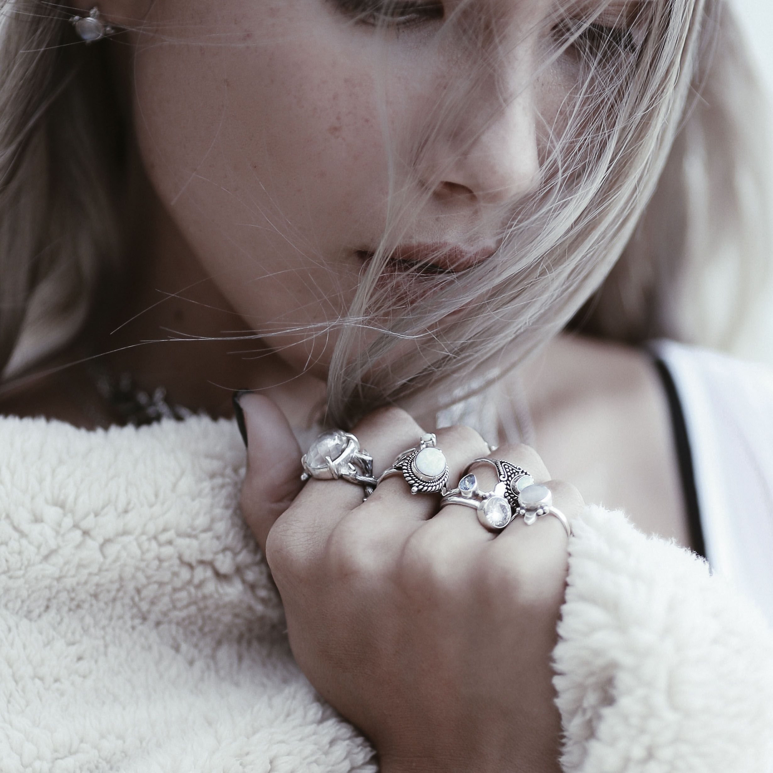 ✧✢✧ ICΣ QUΣΣΠ in store now! ✧✢✧ Our ice beauties have been unleashed as the Ice Queen rules supreme. Embrace the cold mornings and the glacial turn the world has taken with our breathtaking new jewels. ✧✧ Shop the treasures from our Ice Queen's trove at www.shopdixi.com ✧✧ // shopdixi // icequeen // shop dixi // boho // bohemian // winter // ice // hippie // jewellery // jewelry // giftideas // bohochic // winter // ice // snow // moonstone