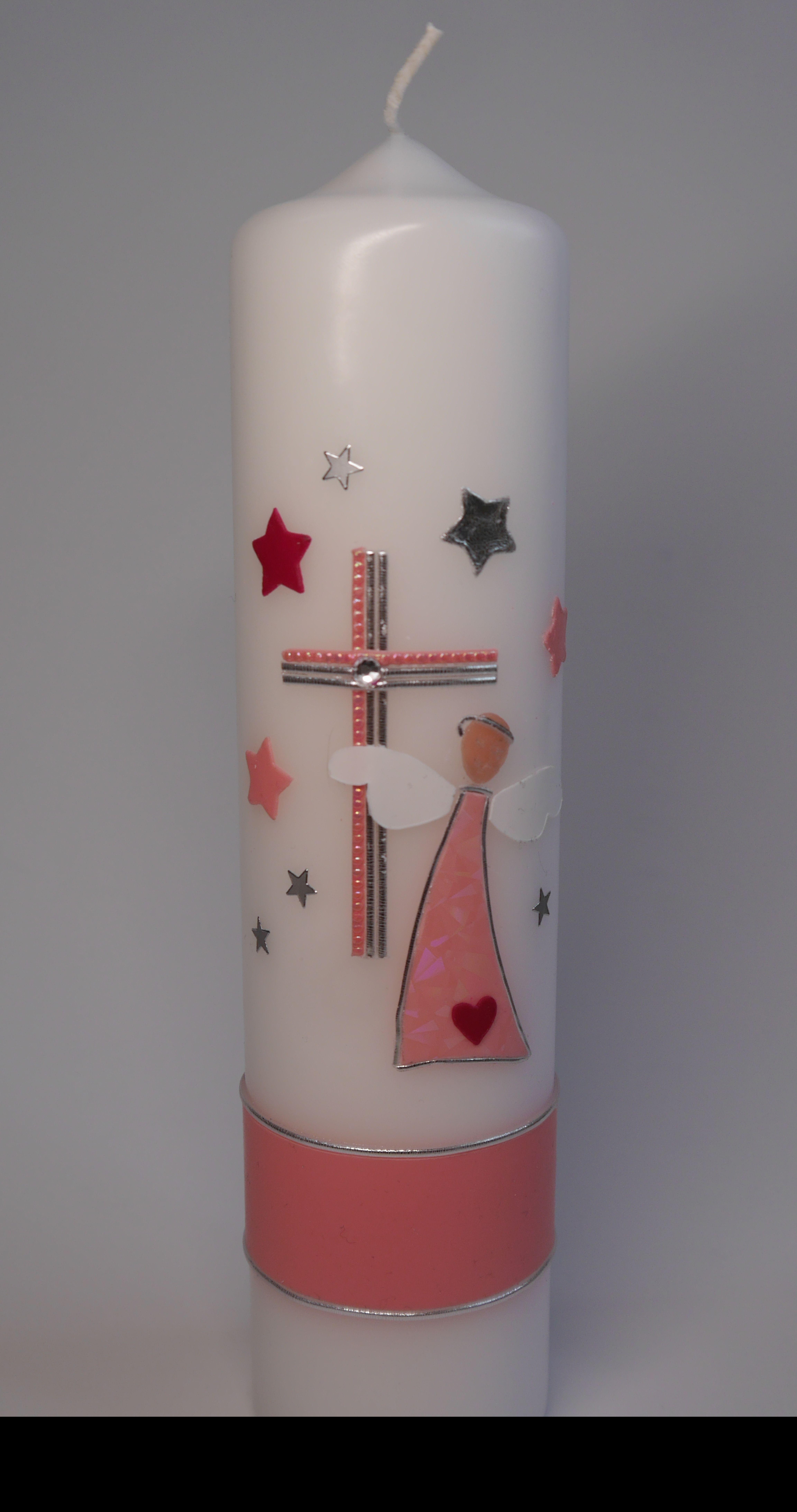 Motivkerze Kerze Engel Kreuz Sterne Kirchlich Konfirmation