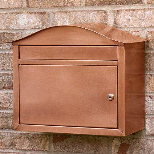 Kenton Locking Wall Mount Copper Mailbox Copper Mailbox Mounted Mailbox Wall Mount Mailbox